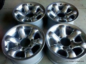 Chevy Toyota Nissan Mazda Chrome Wheels Rims 15x8 6 on 5 5 Bolt Aluminum