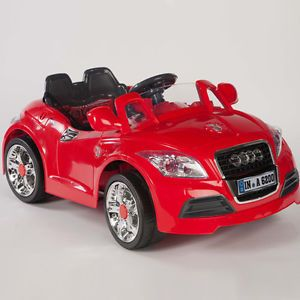Ride on Car 12V Audi Style Kids Power Wheels w  Remote Control Red RC