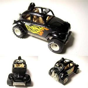 Vintage 1983 Mattel Hot Wheels Real Rider Black Baja Bug VW Volkswagen Beetle