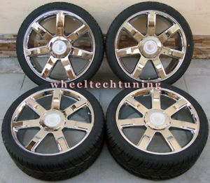 "24"" Cadillac Escalade Wheel Tire Package New"