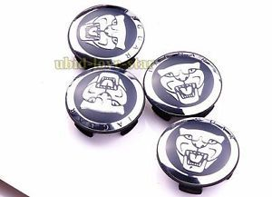 Set 2 25 inch Jaguar Emblem Wheel Center Covers Caps s Type x Type XK XF XJ8 XK8