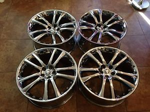 Cromodora Jaguar Very RARE 20 inch Chrome Staggered Jaguar Cromodora Wheels Rims