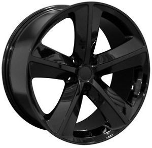 "20"" Dodge Challenger SRT 8 Charger 300 Mopar Replica Wheels Rims Gloss Black 4"