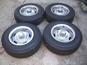 Chevy Camaro Rally Wheels and Tires 15 in FW Code Set