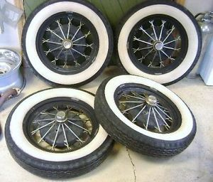Vintage Shay Ford Model A Spoked Wheels Rims Set 4