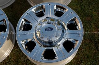 "2013 Ford F350 Super Duty 20"" Chrome Clad Wheels F250 Lariat FX4 King Ranch"