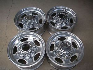"16"" Ford F250 F350 Truck Excursion Polished Factory Wheels Rims 1999 to 2005"
