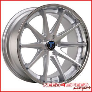 "19"" Ford Mustang GT Rohana RC10 Silver Concave Staggered Wheels Rims"