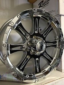 20 inch Chrome Raceline Raptor 983 Wheels Rims Ford F150 Expedition 6x135 20x9