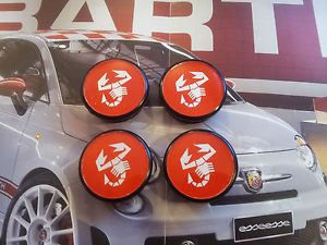 Alloy Wheels Centre Caps Abarth Cromodora Fiat Lancia Red 50mm