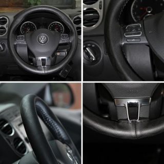 New Leather Steering Wheel Wrap Cover 43001 Black Hummer Fiat Car Needle Thread