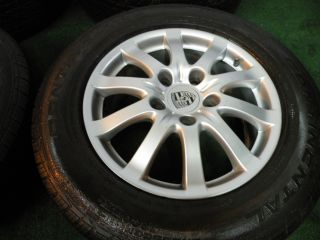 "17"" Factory Porsche Cayenne Wheels VW Touareg Audi Q7 Tires Continental"