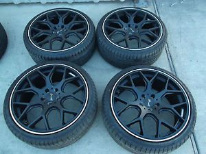 "19"" Black Wheels Tires Rims 5x108 Focus Jaguar x Type Volvo C30 C70 S60 S80 V50"