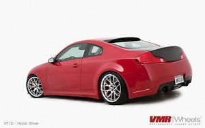 19x10 11 Staggered VMR V710 Hyper Silver Wheels Rims Fit Infiniti G35 G37