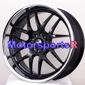 18 18x9 XXR 526 Black Polished Lip Rims Wheels 5x114 3 08 09 13 Subaru WRX STI