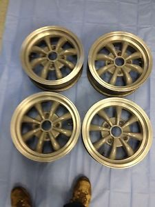 "VW Vintage Beetle Bug 8 Spoke Alloy Wheels Set 4x130 15""x5 1 2"" Volkswagen"