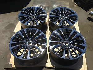 19'' 2011 2012 2013 Infiniti G37S Convertible Black Chrome PVD Wheels Rims