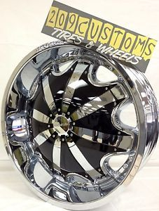 "22"" inch Rims Wheels Tires RW130 Chrome 5x108 Jaguar x Type 2001 2002 2003 2004"