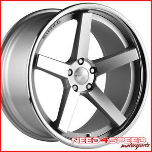 "20"" Infiniti G37 Coupe Stance SC 5IVE Silver Concave Staggered Wheels Rims"