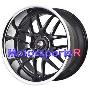 20 XXR 526 Black Rims Wheels Staggered 5x114 3 Deep Dish Lip 08 13 Nissan 370Z
