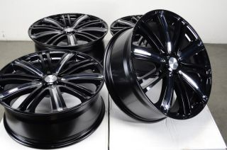 "20"" Mercedes Wheels Rims Black CLK55 AMG CLS500 ML350 ML50 Volkswagen CC EOS GTI"