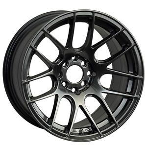 16 XXR 530 Chromium Black Rims Wheels 16x8 25 0 4x100 Scion XB BMW E30 Miata