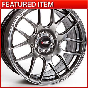 XXR 530 17 17x8 25 4 100 4 114 3 25 Chromium Black Wheels Rims Scion XB 240sx
