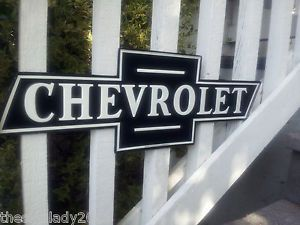 Chevrolet Parts Service Bowtie Metal Sign Camaro Corvette Truck Mancave Garage