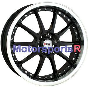 17 17x7 XXR 941 Black Machine Lip Wheels Rims 5x100 08 09 12 13 Scion XB TC FRS