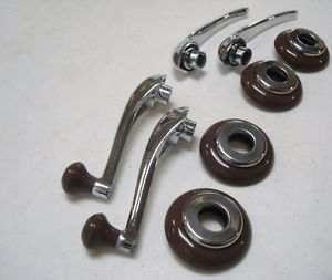 1946 Ford Deluxe Coupe Door Handle Window Crank Kit