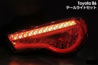 2012 2013 Toyota 86 ZN6 Scion Fr s Rear LED Tail Light Lamp Set Red JDM VIP