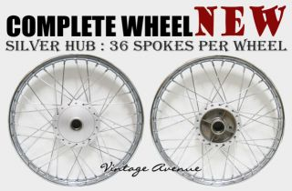 New Honda C90 CM90 CM91 C200 CA200 Front Rear Wheel Rim Hub Spoke F7S R4 1S
