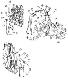 Gasket Expansion Valve Gasket Genuine Mopar 04677045 Chrysler Dodge 97 10 10