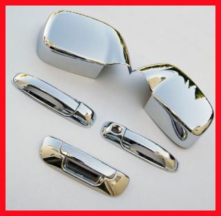 02 08 Dodge RAM Chrome Tailgate Handle Mirror Covers 3D