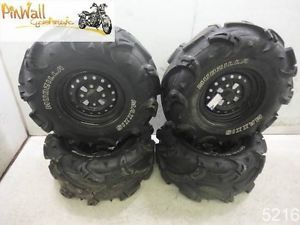 06 Honda TRX500 500 Wheels Rims Set Maxxis Mudzilla Tires