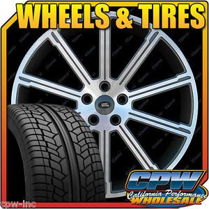 "22"" Gunmetal Land Rover Range Rover Sport HSE Rims Wheels Tires Package Deal New"