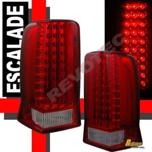 02 03 04 05 06 Cadillac Escalade Red LED Tail Lights Lamps 1 Pair