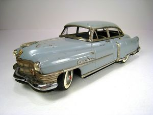 "Marusan Kosuge Tin Friction 1951 Cadillac Series 62 Sedan 12"" Parts or Repair"