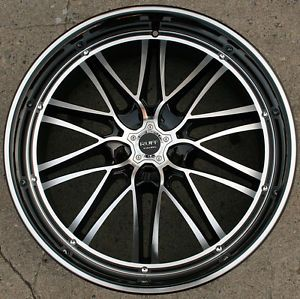 "Ruff Racing 947 22"" Black Rims Wheels BMW 745 750 760 22 x 9 0 5H 40"
