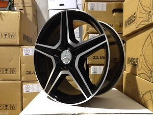 "17"" Mercedes Benz AMG Black Rims Wheels C Class C280 C320 C350 C300 C250"