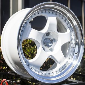 19x9 5 11 Varrstoen ES6 Wheels 5x120 White Rim Fits BMW 335i Coupe 2007 2012