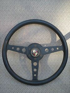 Vintage Momo Flat Steering Wheel w Hub Porsche BMW Alfa Ferrari 14 in 355mm