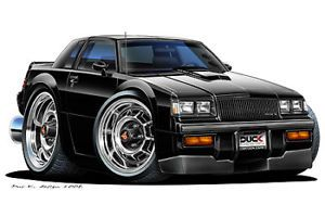 1987 Buick Grand National GNX Turbo Fire Cartoon Car Wall Decal Home Decor New