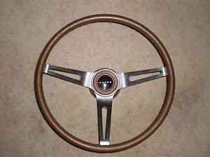Brown Tri Spoke Sport Steering Wheel 69 77 Buick GS Skylark Century Apollo Chevy