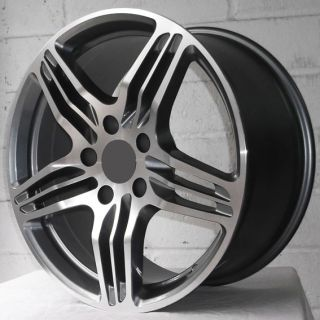 "19"" Porsche Boxter 981 12 on Gunmetal Polished Staggered Alloy Wheels 5x130"