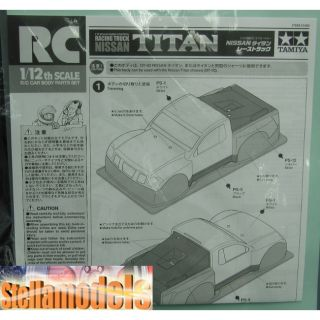51490 Tamiya 1 12 R C Racing Truck Nissan Titan Body Parts Set