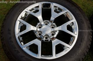 "2014 GMC Sierra 20"" Chrome Wheels Tires Chevy Tahoe Silverado 1500 Suburban"