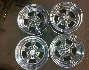 4 15x8 Cragar 5 Star Chrome Wheels Rims 5x5 5x127 Chevy Jeep 1500 15 inch GMC