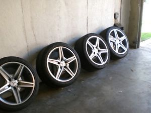"Mercedes E63 AMG Wheels Tires Rims Set 18"" E Class E500 E350 E55 CLK"