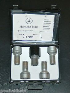 "Mercedes Benz Wheel Locks Part No B66470155 ""E"" Class Models E350 E550 E63"